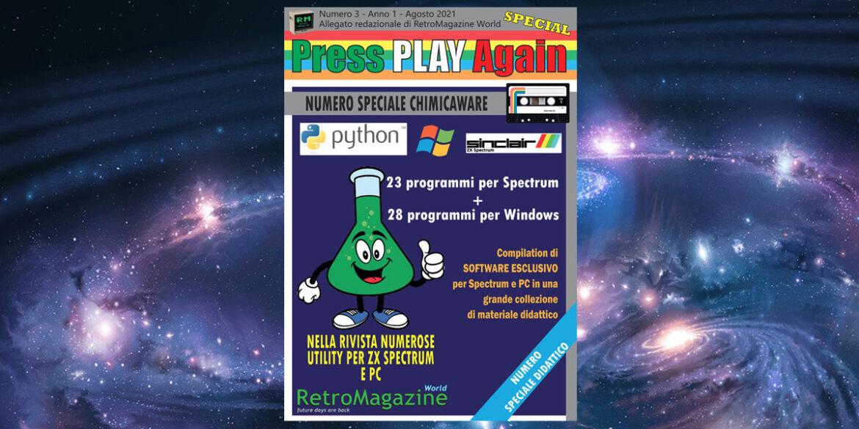 Press Play Again n° 3 – Agosto 2021 – ITA
